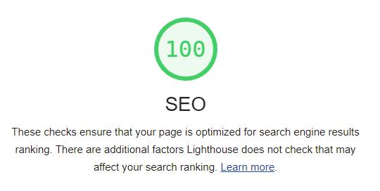 seo optimized martial arts website lighthouse stats 100/100